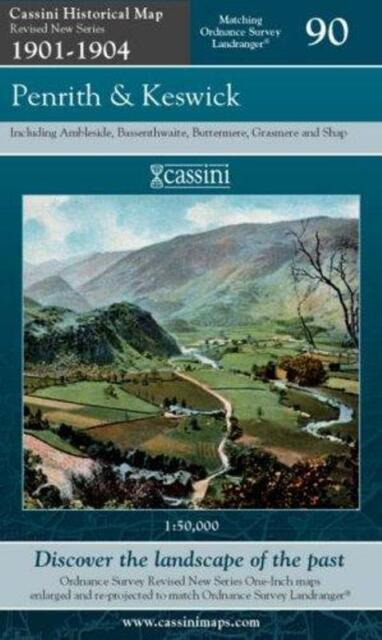 Penrith and Keswick(Cassini Revised New Series Historical Map)NEW