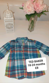 Selection of baby boy shirts TED BAKER, NEXT, ZARA