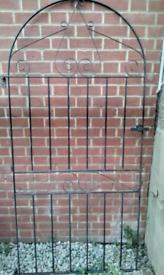 Large metal garden gate