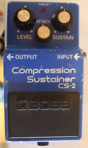 $90 · BOSS COMPRESSION SUSTAINER CS-2 PEDAL