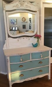 Beautiful antique dresser and mirror