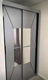 😍💕STYLISH NEW YORK 2 & 3 DOORS MIRRORED SLIDING WARDROBES, LED OPTIO
