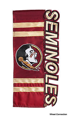 Florida State University Seminoles Decorative Flag NCAA Lic College Football  - Fsu Decor