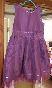 Girls Size 6 Beautiful Purple Dress