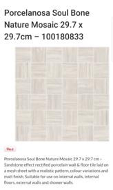 Porcelanosa Mosaic Tiles Urbatek Soul Bone Nature *Brand new*