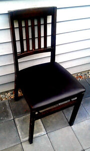 Trendy Leather Bound Chair, Black