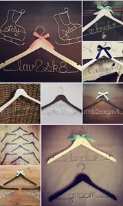 Personalized Wire Hangers, Cake Topper & Table Numbers - WEDDING Regina Regina Area image 10