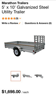 Trade 5x10+ utility trailer for snowmobile trailer