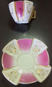 Red Tea Cup and Saucer
