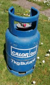Full Calor Gas Bottle, 7kg. Ideal for Caravan, Campervan or camping.