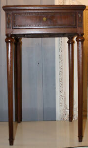 STUNNING FRENCH ANTIQUE BEDSIDE TABLE