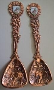 Collector Souvenir Copper Busch Gardens  Spoons