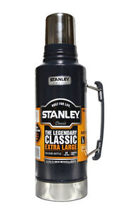 new Extra Large Vacuum Bottle Stainless Steel Navy1.9L 32 hours