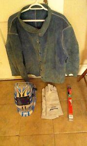 Welding Jacket, New Helmet, New Gloves