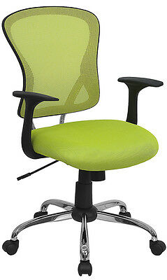 Chrome Base Green Mesh Computer Office Desk Chair