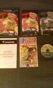 GAMECUBE SPONGEBOB HARRY POTTER TIGER WOODS POKEMON CHANNEL