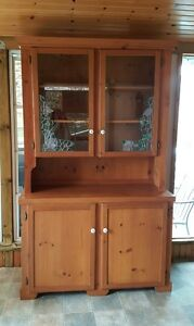 Solid Pine Hutch and Buffet