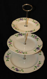 GEORGE JONES & SONS 3 TIER CAKE STAND