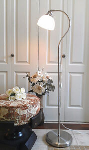 """Immaculate!  Tilting Goose Neck Reading Floor Lamp, H 53"""""""
