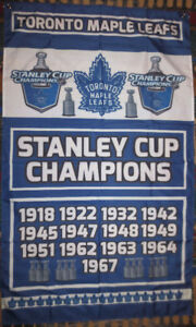 Toronto Maple Leafs Stanley Cup Champions Banner Flag