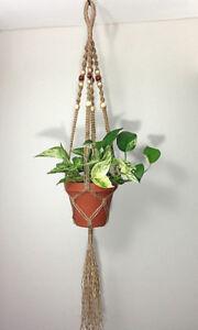 Jute Macrame Hanging Planter