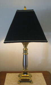 Silver/brass lamps with Stiffel shades