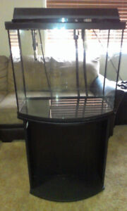 Fluval 26 Gal Bowfront with stand + Fluval 206 Canister Filter