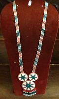 Various vintage native beaded necklaces