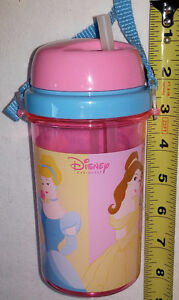 Disney Princess Pink Travel Sippy Cup with Strap - NEW London Ontario image 1