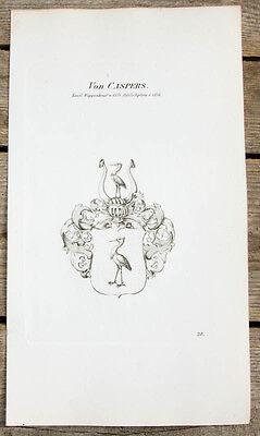 1870 Wappen von Caspers Kupferstich