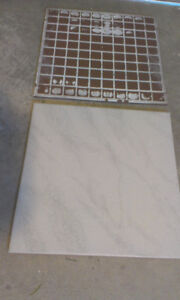12 inch square marble look tile