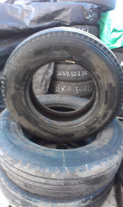 3 Bridgestone Steering Tires 215 / 75 R17.5  80% tread  100 each