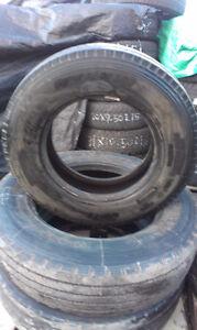 3 Bridgestone Steering Tires 215 / 75 R17.5  80% tread  100 each