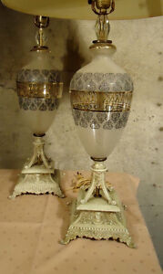 PAIR OF DESIGNER TABLE LAMPS & MORE LAMPS