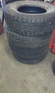 4 Nokian winter/all weather 245 75 R16  60% tread