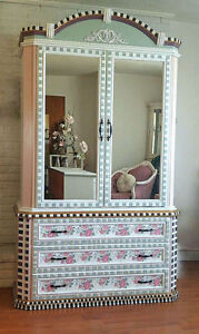 Hand-painted, Mackenzie-Childs Inspired Armoire Oakville / Halton Region Toronto (GTA) image 1