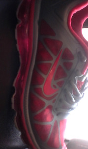 RED AND GRAY NIKE AIRMAX 360