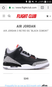 Jordan 3 black cement giveaway