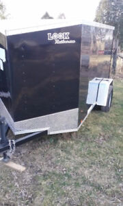 New 2018 5x10 Plus 2 Foot V Nose Look Cargo Enclosed Trailer