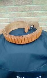 20 Guage Italian Leather Cartridge Belt