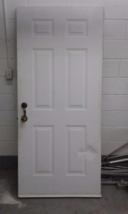 Solid Steel Door with Keys