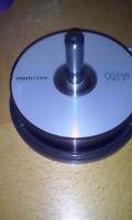 25 Memorex cd-rw discs