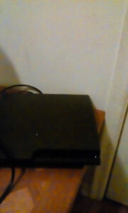 Ps3 console with games and controller