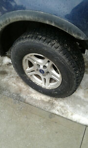 1997-2003 Ford F150 rims and Blizzak tires