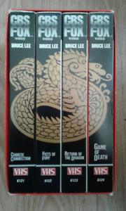 Used - VHS Box Sets -Bruce Lee 4 Tape CBS + 2 Tape Boxing Series