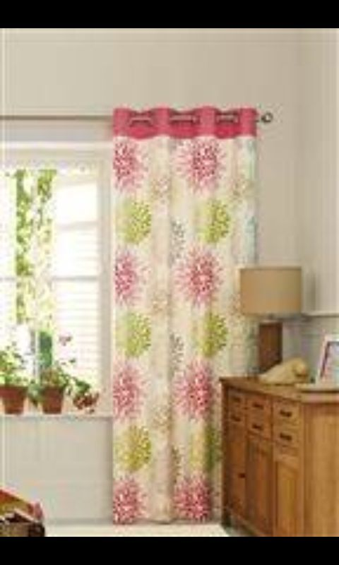 Next Blossom And Bloom Pink Green Curtains 2 Pairs Sizes