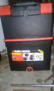 best offer a black and decker tool box and a gas jug   for sale