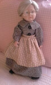 Grandma Porcelain  Doll with glasses