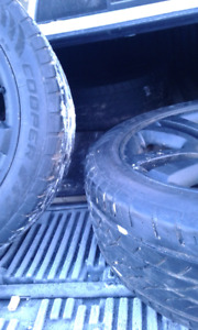 Cooper tires and rims for sale