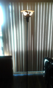 Stained glass design floor lamp